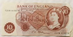 10 Shilling bank Notes Final Style Choice of Date for sale
